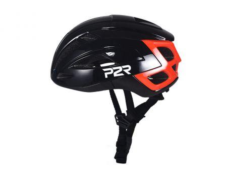 Prilba P2R RODEO, M / L  59-61cm, black-red, matt & shine