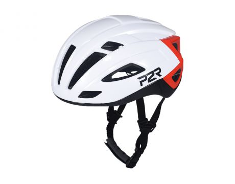 Prilba P2R RODEO, M / L  59-61cm, white-black-red, shine