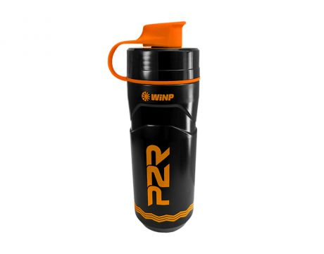 Termo fľaša P2R TERMICA 600 ml, black-orange