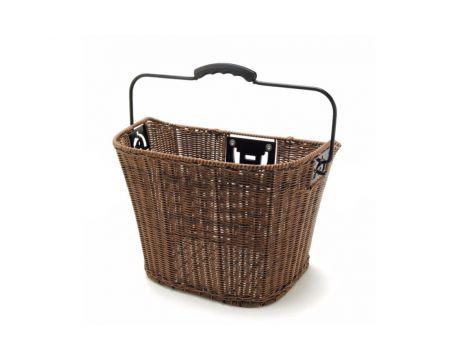 Predný košík Rattan s rýchloupínacím držiakom