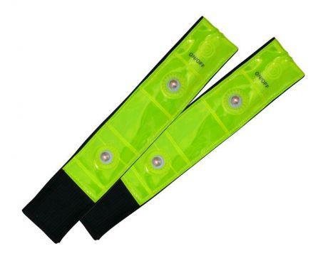 Páska reflexná so 4 LED žltá 3x42cm