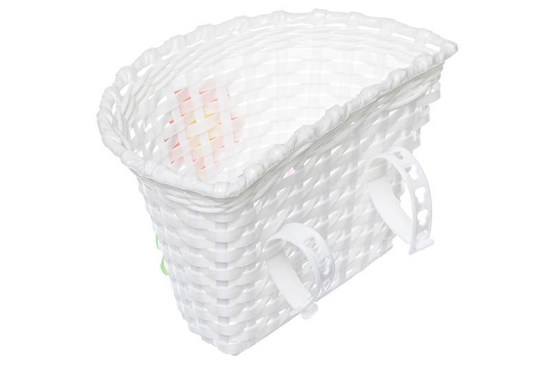 a07e2c004 OEM Košík na riadidlá , detský plastový, biely, ružové kvietky ...